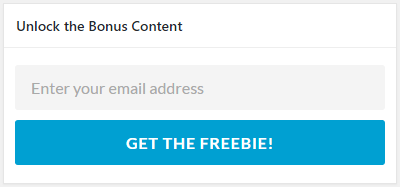 Box for entering your email address to get the freebie