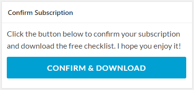 Confirm subscription and download freebie