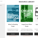 Manage the resource library