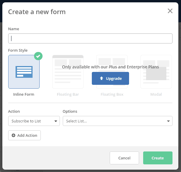 Create a new form in ActiveCampaign