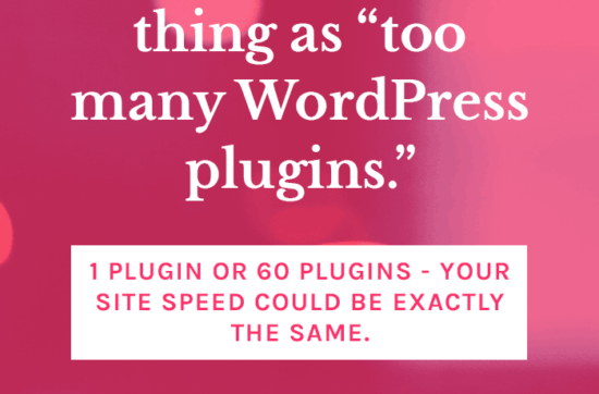 It Doesn't Matter How Many Plugins You Have