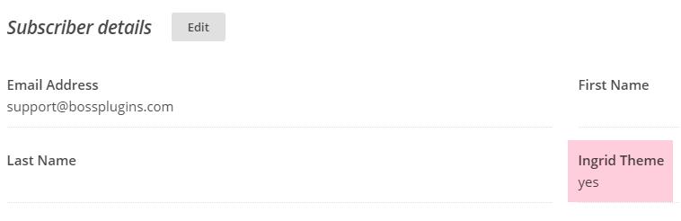 Subscriber details in MailChimp
